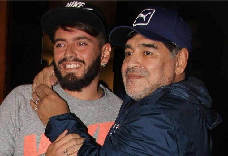 Diego Maradona junior funerali del padre