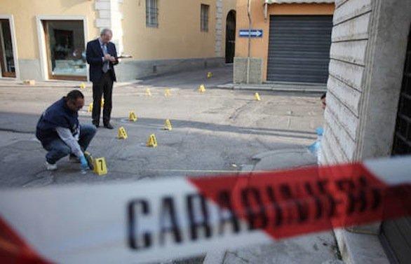 agguato sparatoria rilievi carabinieri