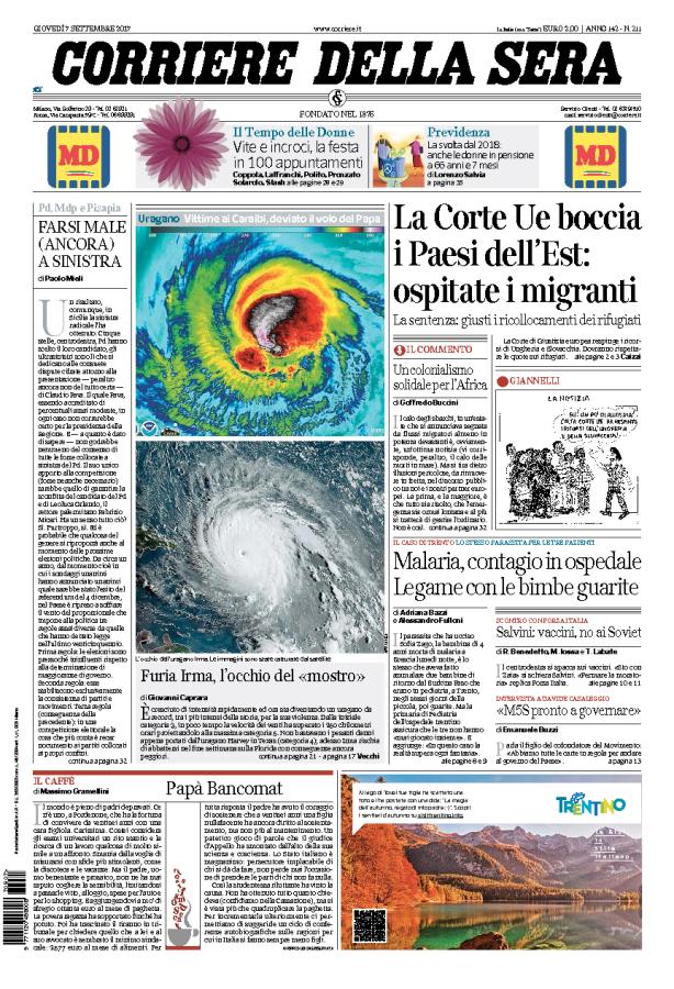 Edicola italiana i giornali di oggi cronache della campania - Giornali di cucina ...