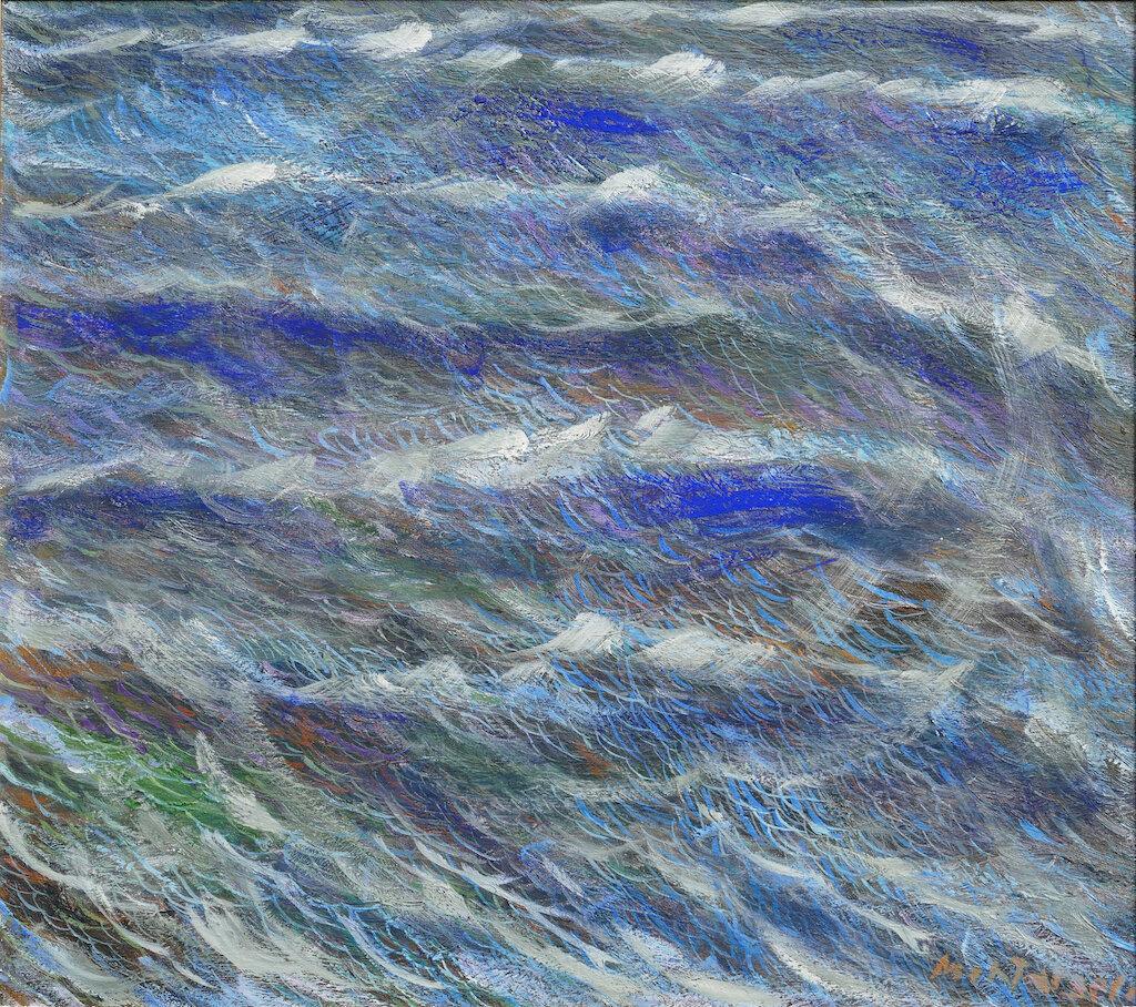 Oceano 1. 1993 olio su tela cm