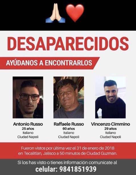 Tre campani scomparsi in Messico: si teme per la loro vita