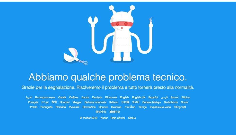 Twitter down.