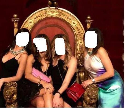 ragazze trono