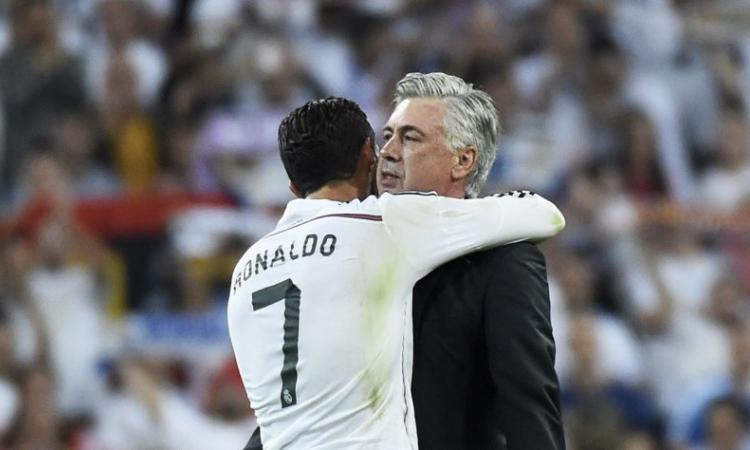 , Ancelotti onesto: a Ronaldo ha parlato bene della Juve e di Allegri