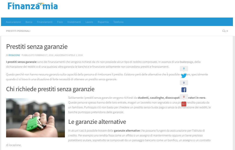 Prestiti Senza Garanzie  Difficili Da Ottenere In Italia