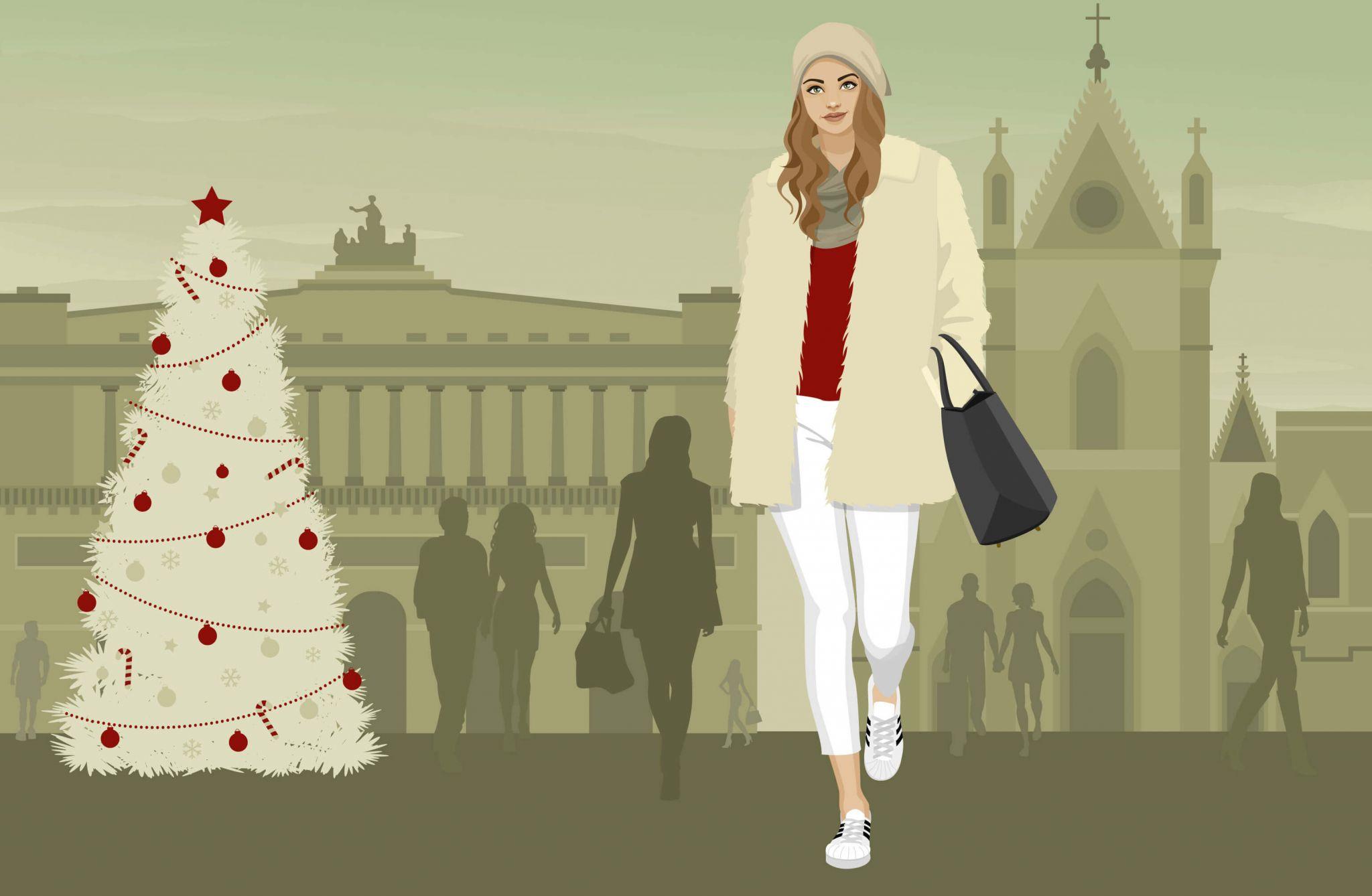 46b297c33d32b7 Immancabili sneakers e ecopelliccia per vivere una Napoli tutta da  scoprire. Qual è l'outfit perfetto per le lovers napoletane? stileo.it  analizza le ...