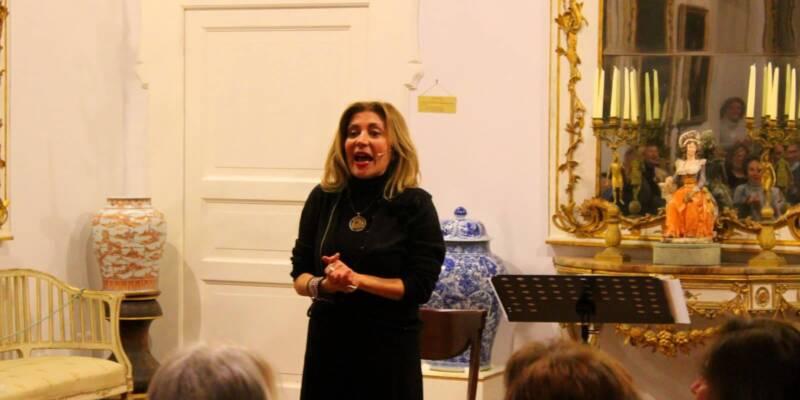 Rosaria De Cicco, L'attrice Rosaria De Cicco al Museo Correale di Sorrento