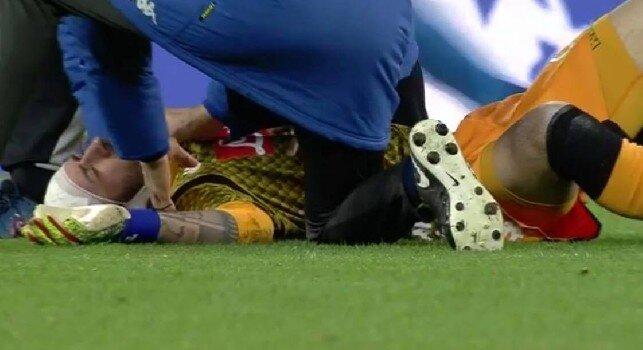 Napoli, brutto infortunio alla testa per Ospina