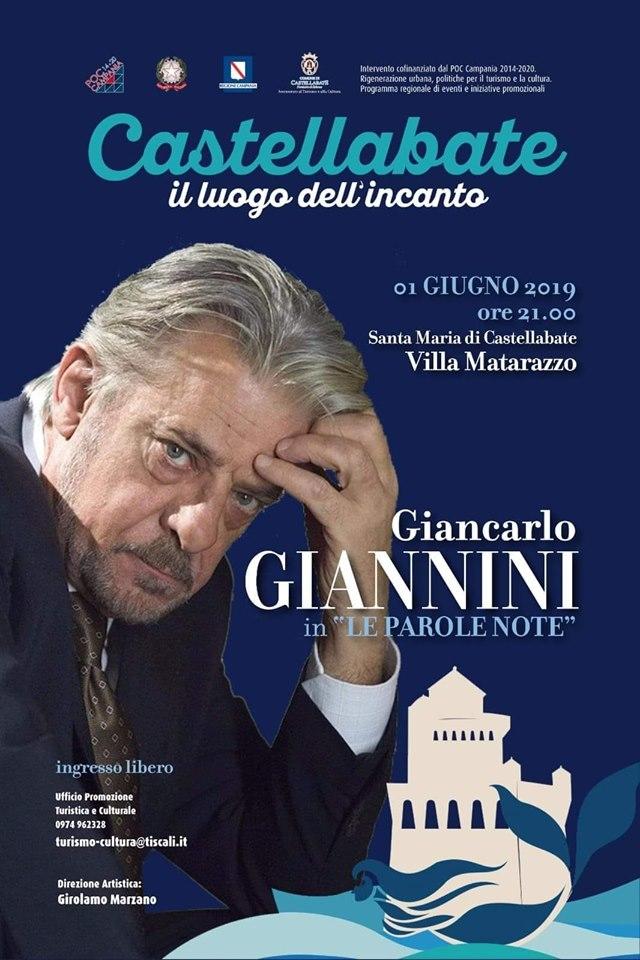 Locandina Giancarlo Giannini Castellabate2019