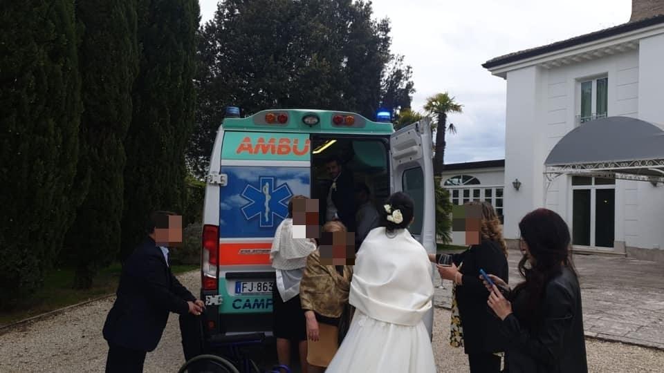 malato sla ambulanza matrimonio