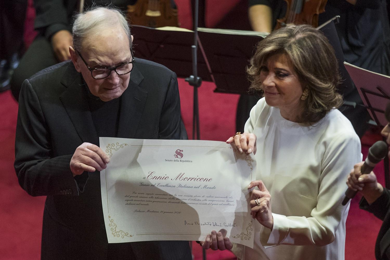Il Senato premia Ennio Morricone