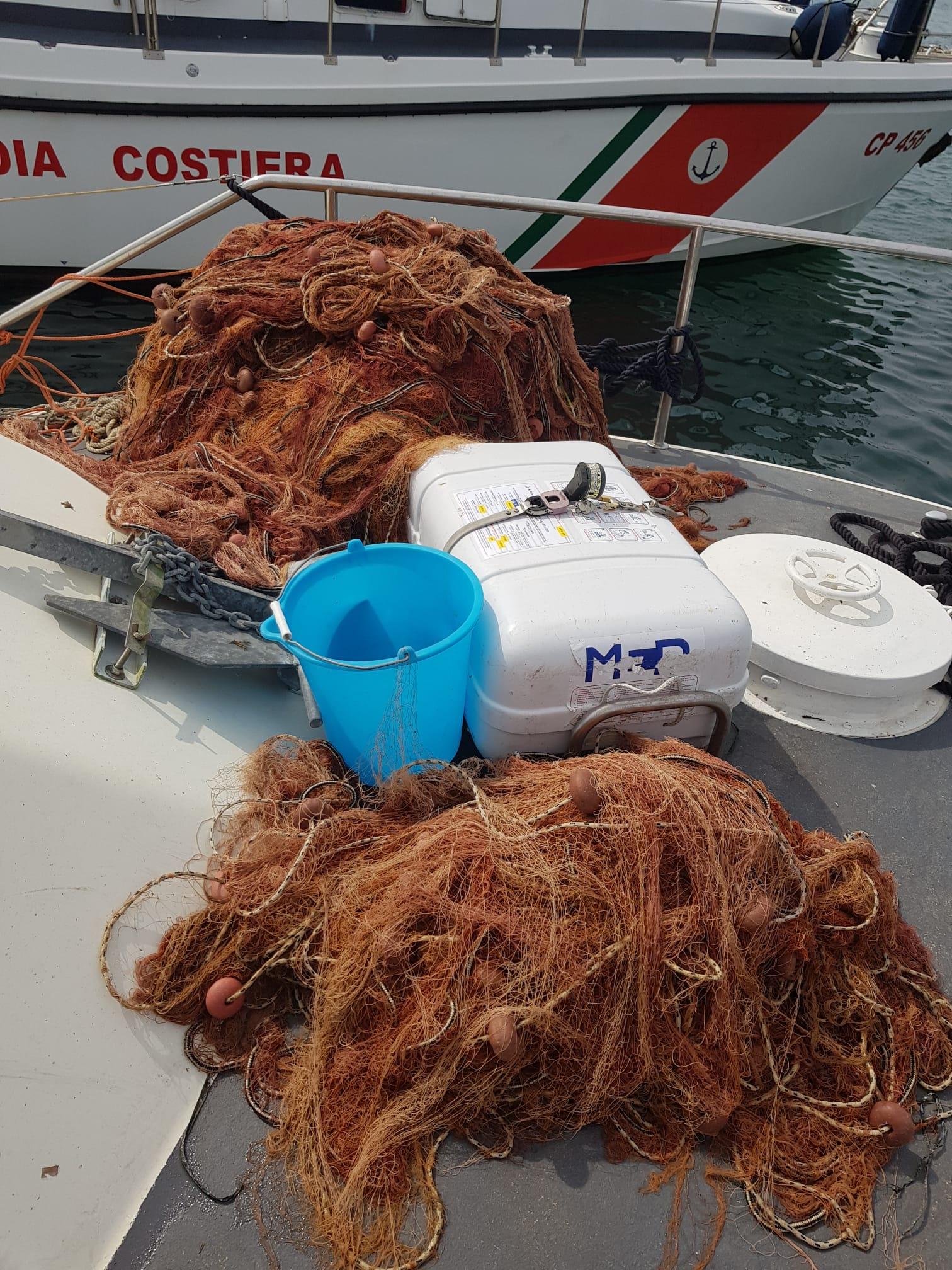 sequestro rete pesca ischia