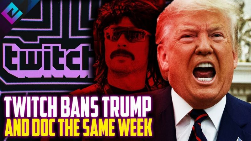 Twtich chiude canale Trump