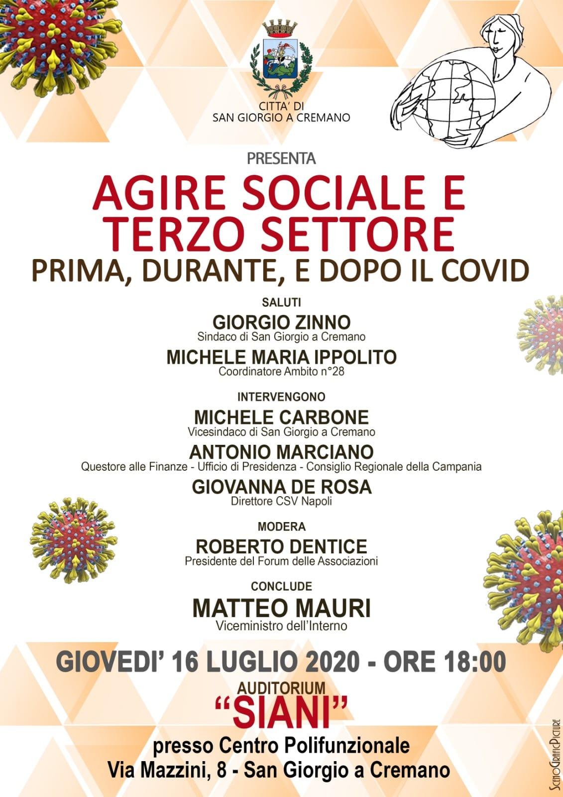 AGIRE SOCIALE SOTTOSEGRETARIO MAURI