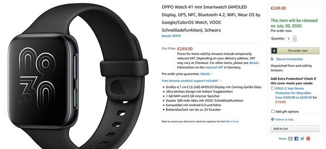 oppo watch amazon