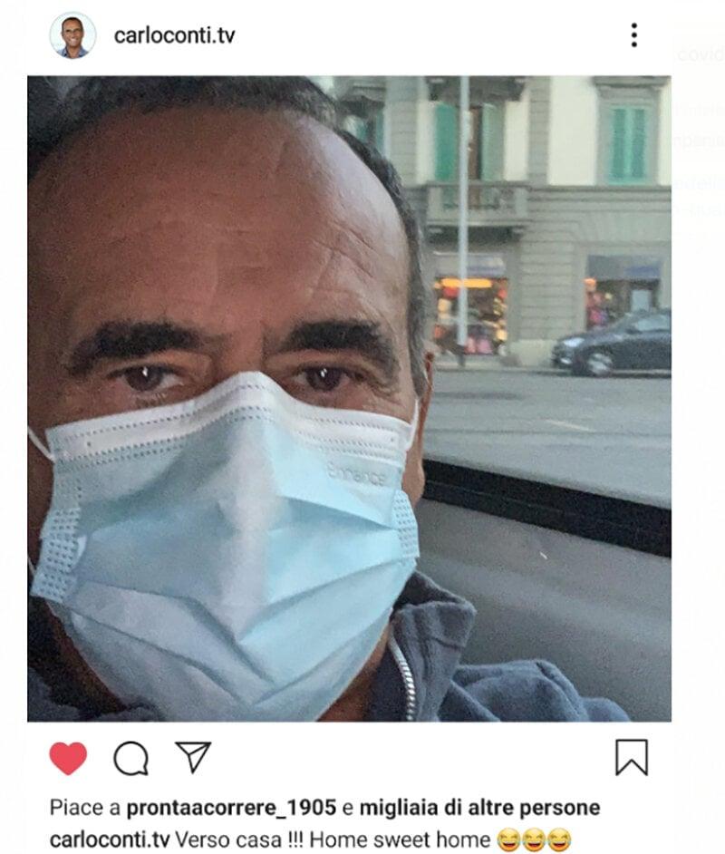Carlo Conti dimesso dall'ospedale