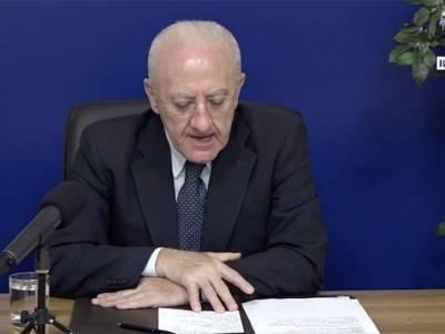 De Luca: 'Oggi in Campania 3900 contagiati