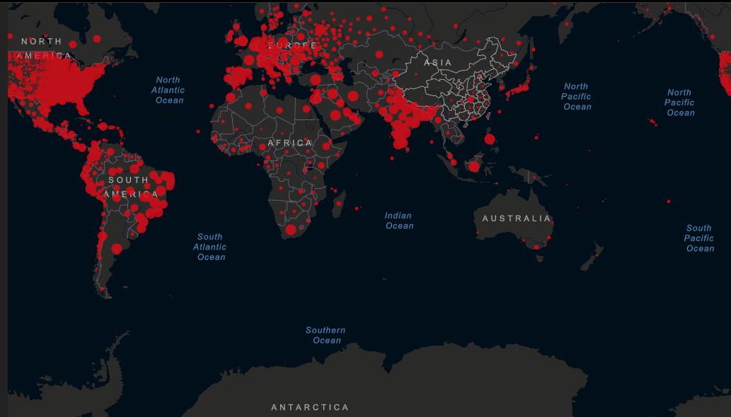 schema coronavirus mondo
