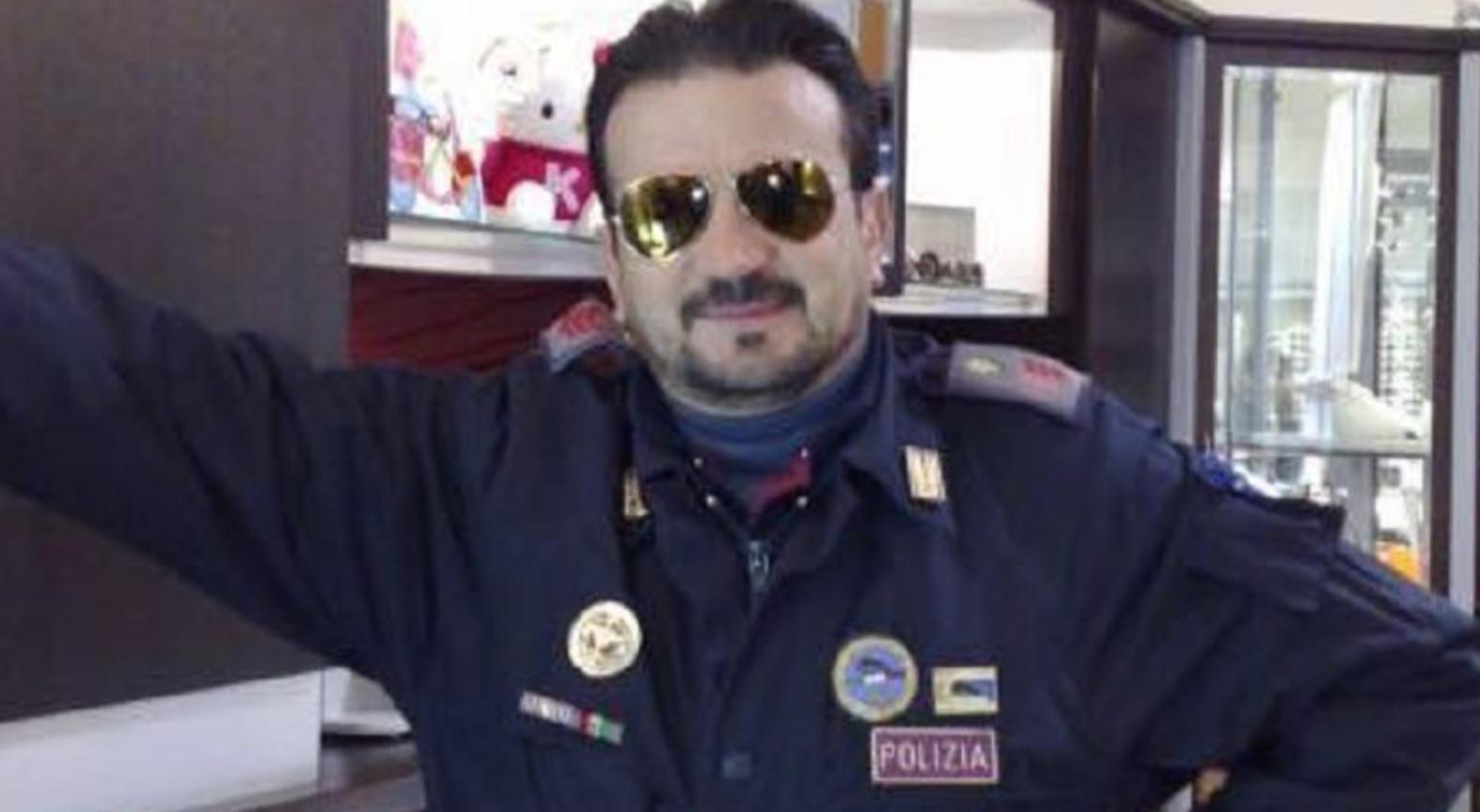 covid,aversa,agente di polizia,morto