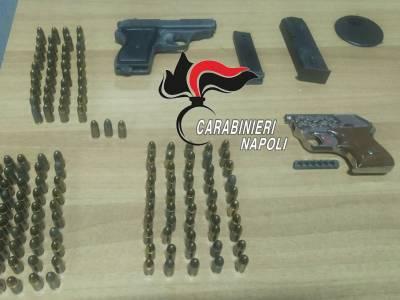 arzano armi munizioni, Arzano, armi e munizioni recuperate dai carabinieri