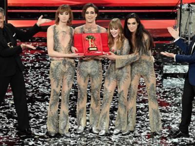 Maneskin festival di sanremo, I Maneskin a sorpresa vincono il Festival di Sanremo