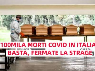 Covid 100mila morti in Italia, Covid, 100mila morti in Italia: tra i peggiori del mondo